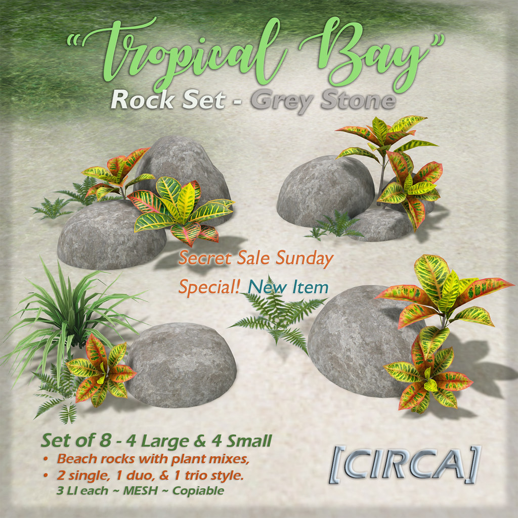 "[CIRCA] – ""Tropical Bay"" Rock Set – Grey Stone (SSS)"
