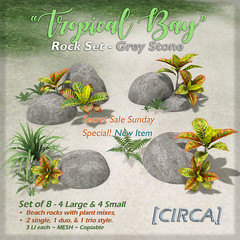 "[CIRCA] - ""Tropical Bay"" Rock Set - Grey Stone (SSS)"