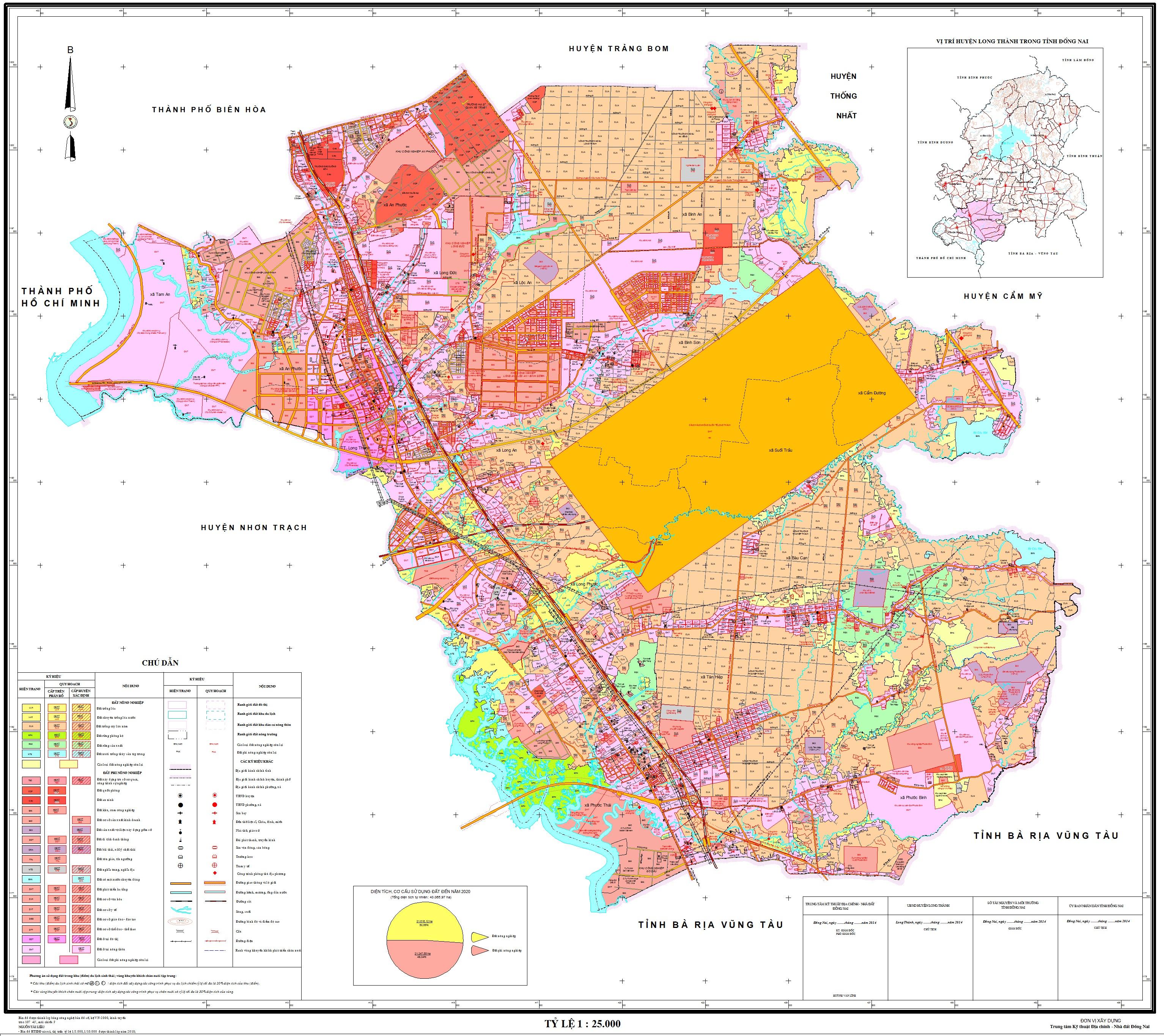 Bản đồ quy hoạch huyện Long Thành (Đồng Nai)