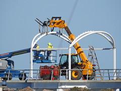 Shelter framework erection on the new jetty