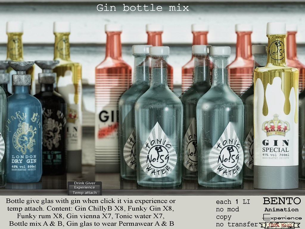Gin Bottle mix