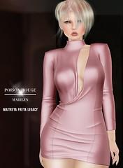 POISON ROUGE Marilyn Dress