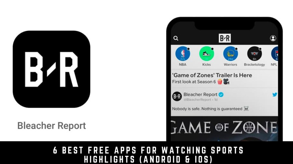 6 Best Free Apps For Watching Sports Highlights (Android & iOS)