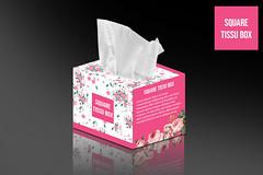 Tissue Box Design - Square Box Template
