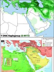 Y-DNA Haplogroup J2-M172 vs. Table of Nations Map Comparison.
