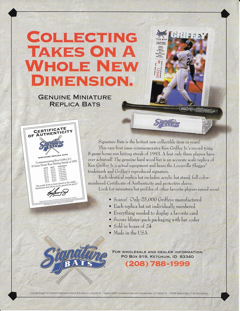 1994 Signature Ad Sheet - Griffey