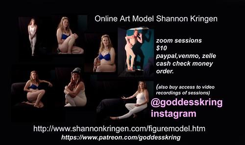 book Art Model Shannon Kringen online in zoom