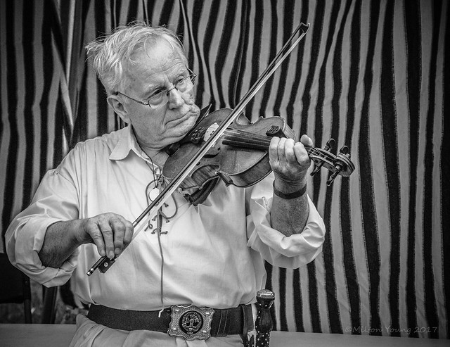 Fiddlin' at the highland games
