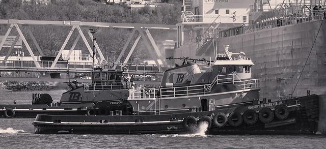 Tugs Holding Ship