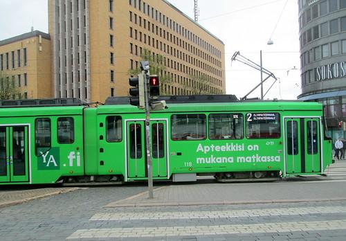 Colourful Helsinki Tram