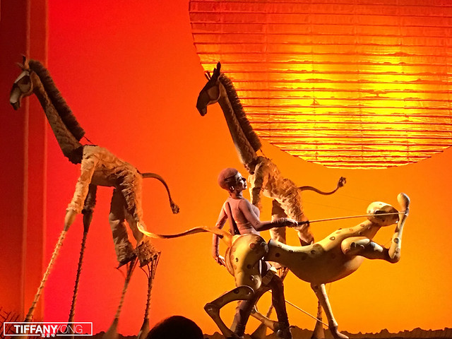 The Lion King Musical 2018 cheetah giraffe