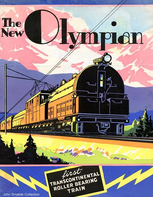 Milwaukee Road New Olympian Locomotive Cover