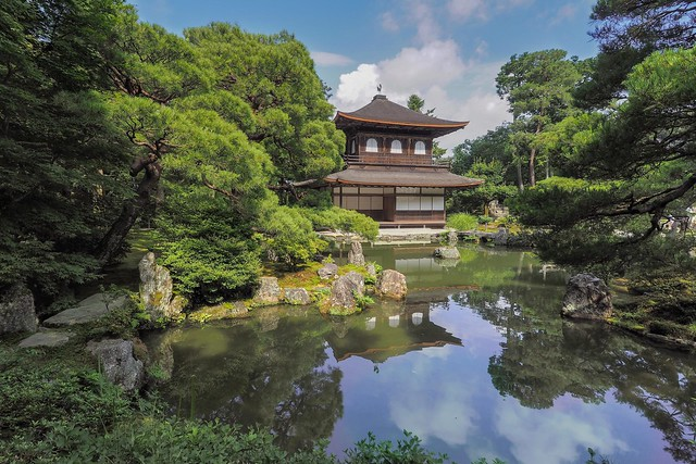 Ginkaku-ji, temple au pavillon d'argent..Unesco