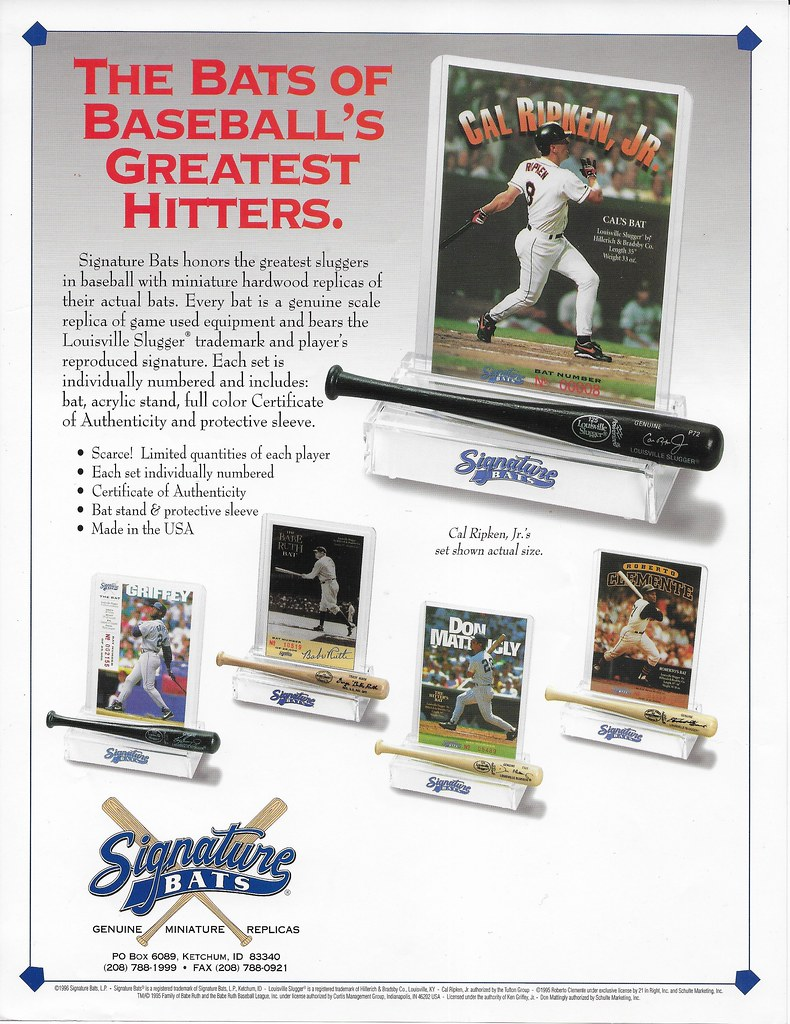 1994 Signature Bat ad - Ripken