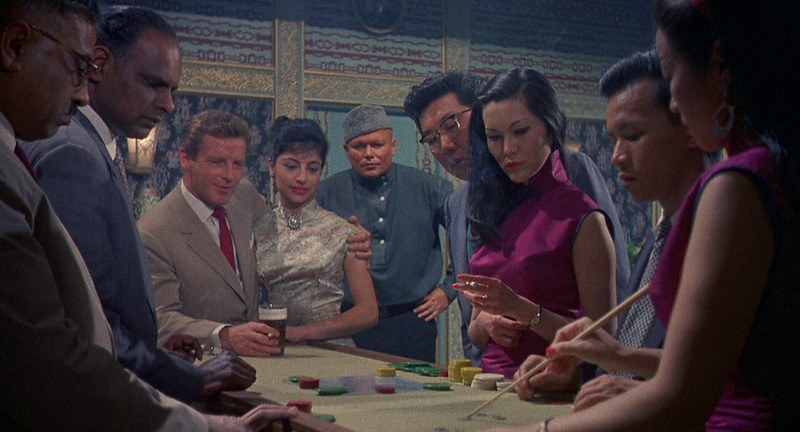 Richard Basehart dans le film Visa pour Canton (Visa to Canton / Passport to China, Michael Carreras, 1960)
