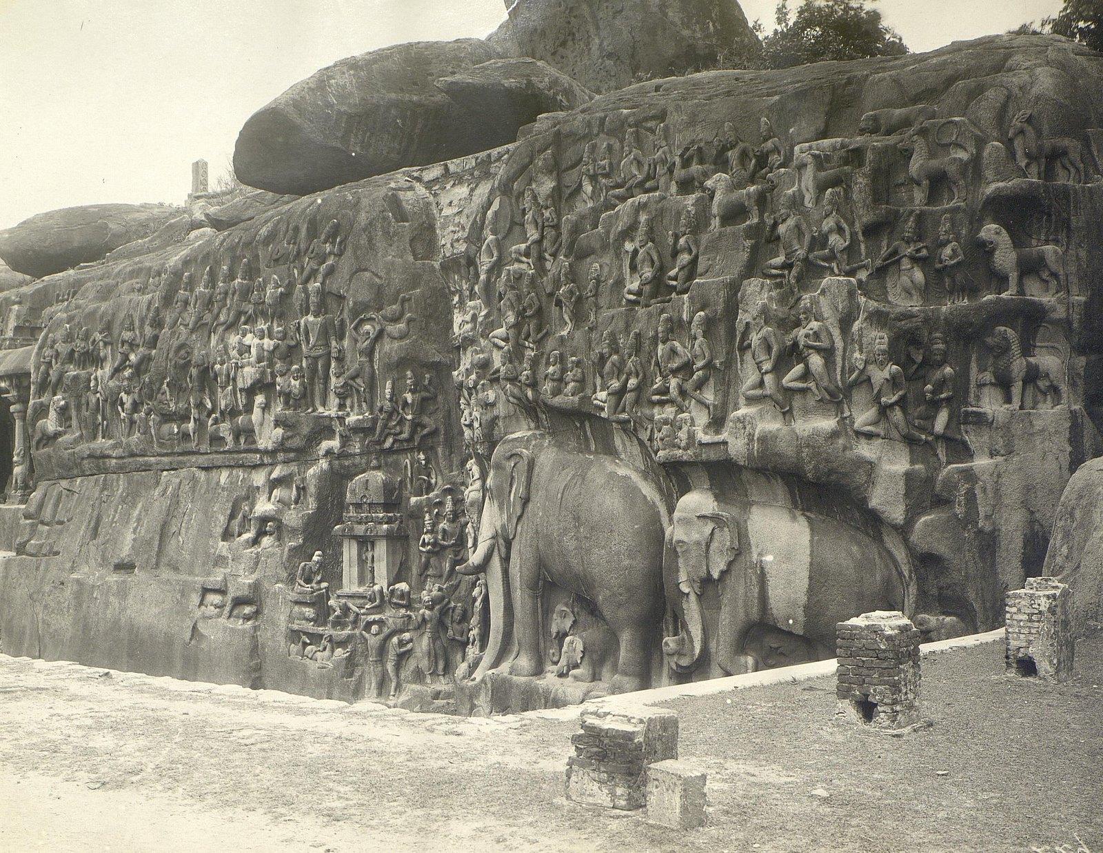 Мамаллапур (скала с рельефными изображениями)3