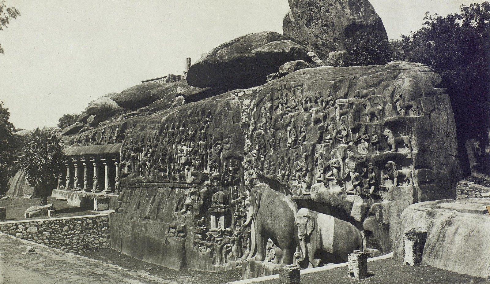 Мамаллапур (скала с рельефными изображениями)1