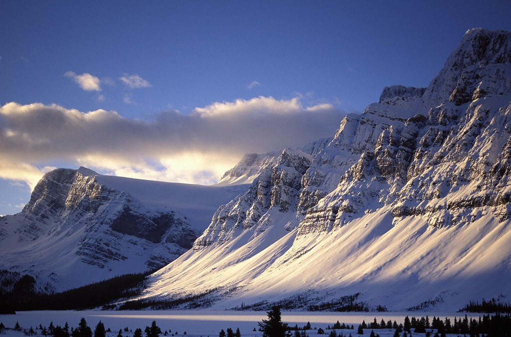 The Canadian Rockies covered in snow