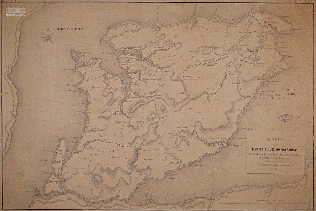 Mapa da Ilha de Upaon-Açu, Maranhão, 1820