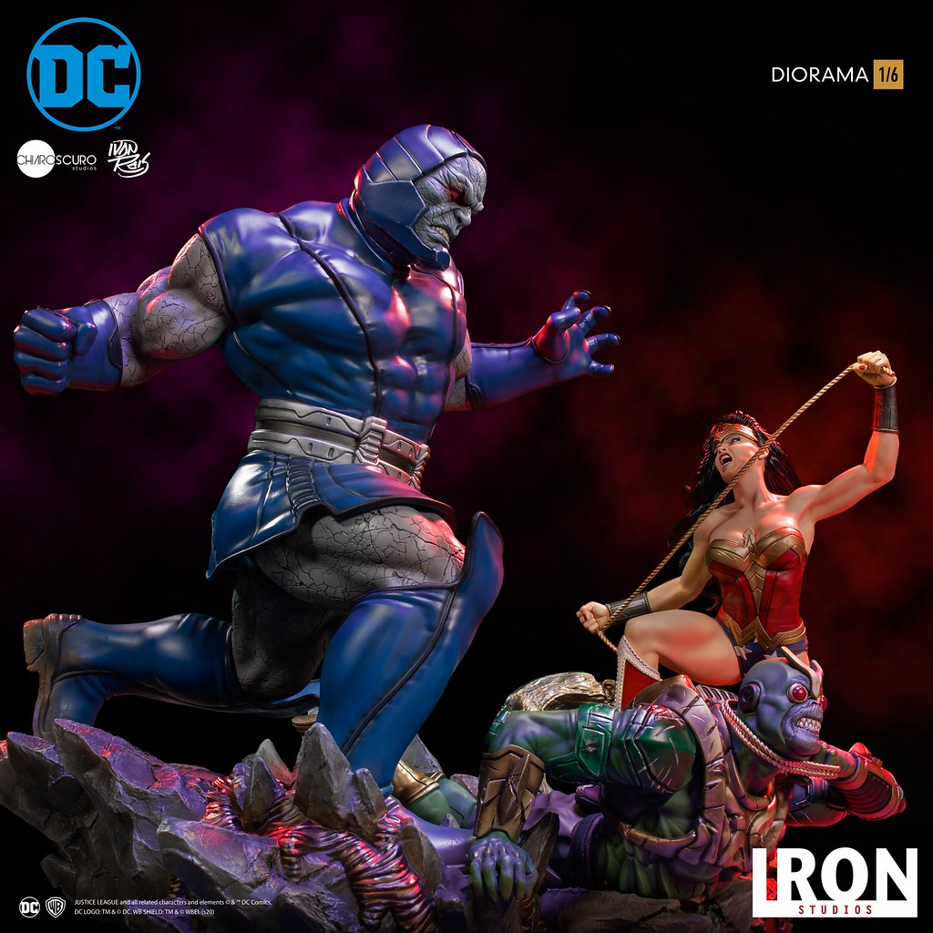 大戰一觸即發! Iron Studios DC Comics【神力女超人 VS 達克賽德 (Wonder Woman VS Darkseid) by Ivan Reis】1/6 比例全身場景雕像