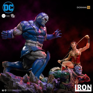 大戰一觸即發! Iron Studios DC Comics【神力女超人 VS 達克賽德 (Wonder Woman VS Darkseid) by Ivan Reis】1/6 比例全身場景雕像