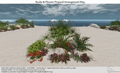 .:Tm:.Creation Rocks & Flowers Tropical Arrangement M23