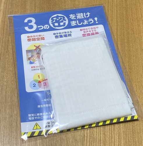 布マスク 支給 2020/5/16 届く