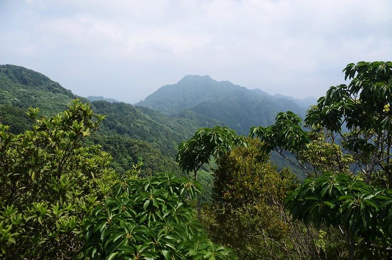 觀音山山頂巨岩北望仙山南峰、仙山 (2)