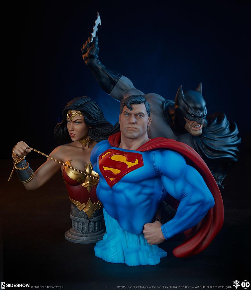 將準備投擲出蝙蝠飛鏢的瞬間完全濃縮! Sideshow Collectibles DC Comics【蝙蝠俠】Batman 胸像