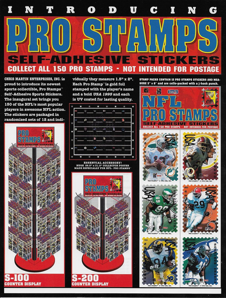 1995 Pro Stamps FB Advertising Sheet