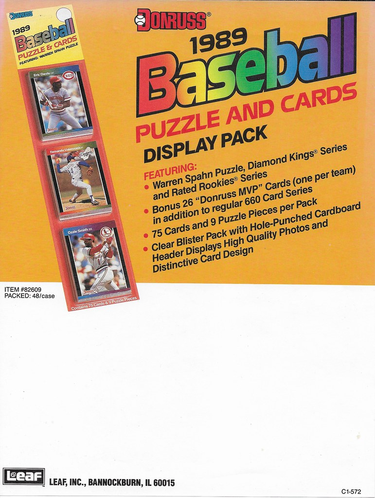 1989 Donruss Advertising Sheet2