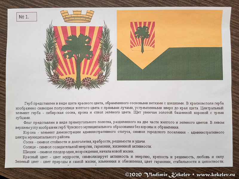 Выбор герба пос. Чунский *3957