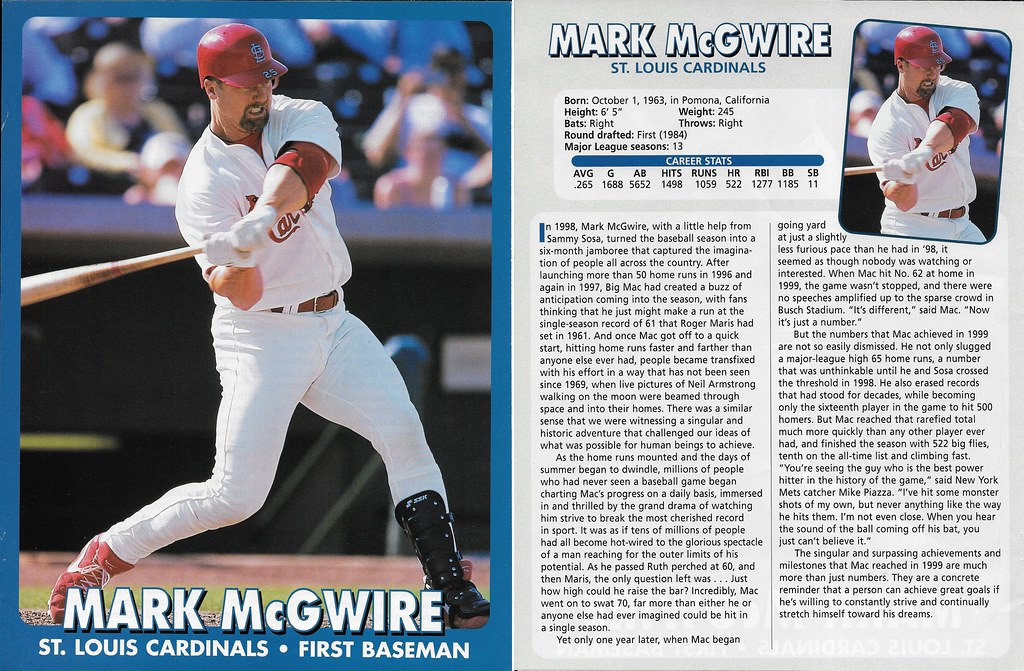 2000 East End Publishing Superstar Album Poster - McGwire