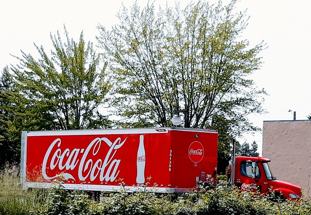 Coca-Cola Truck with Blackberries Hiding Wheels