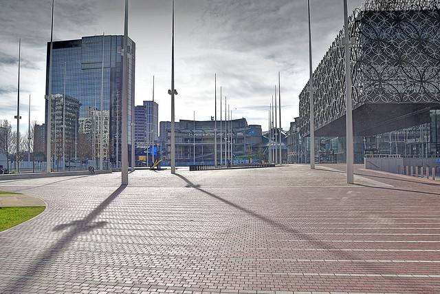 Flag Poles at Centenary Square, Birmingham.