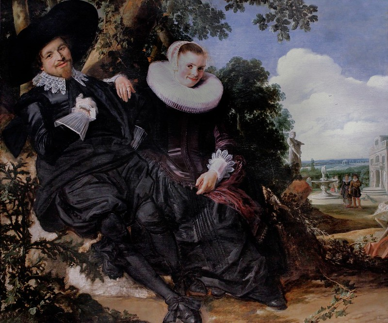 IMG_3196E Frans Hals. 1582-1666. Haarlem.  Portrait de Isaac Abraham Massa et de  Béatrice van der Laen. 1622   Amsterdam Rijksmuseum.