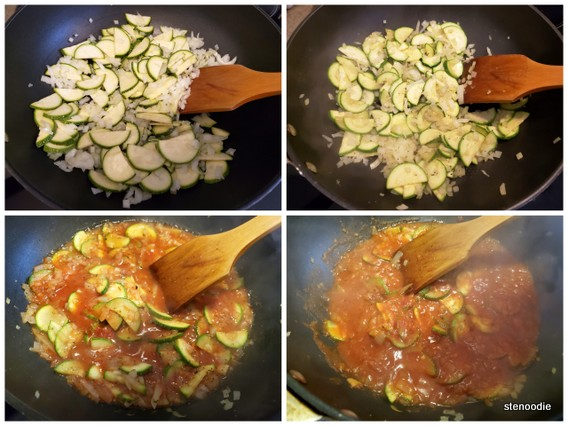 Cooking the marinara sauce