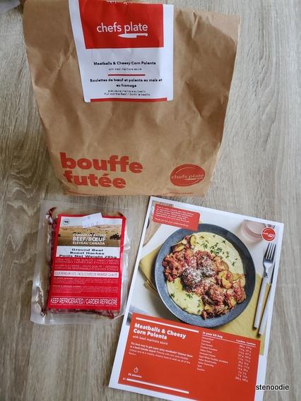 Meatballs & Cheesy Corn Polenta meal kit