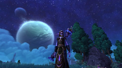 Night Elf Under a Full Moon