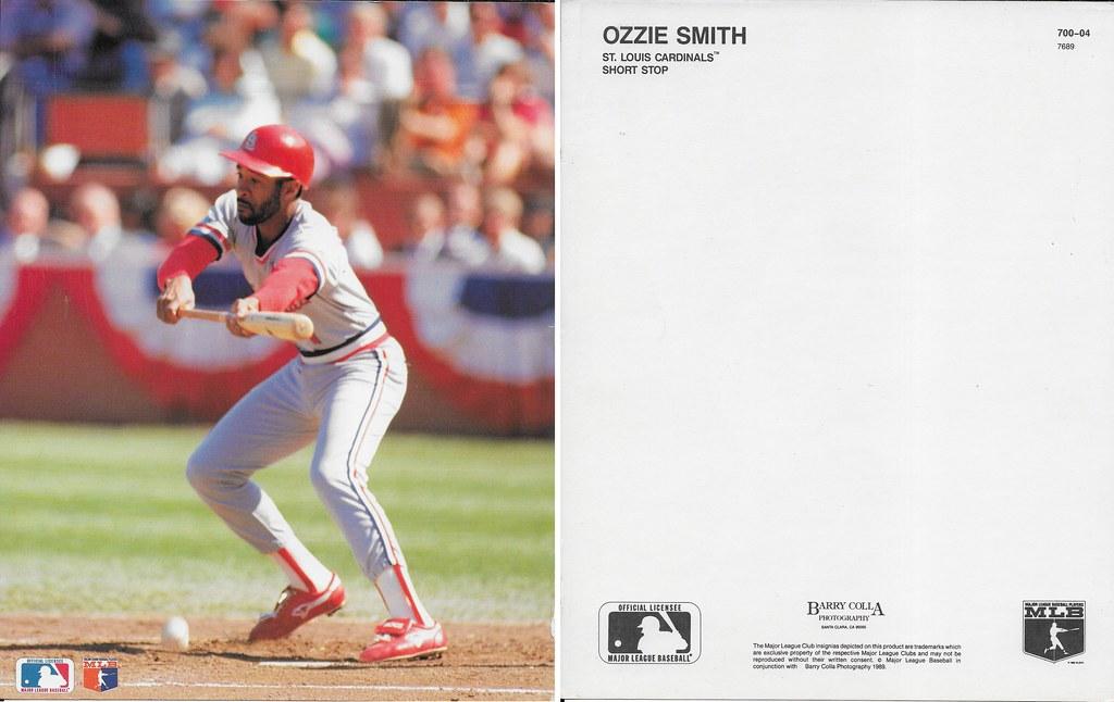 1989 Ozzie Smith Barry Colla 8x10 7689