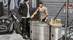 New release at Mancave event exclusive! The beer & grill bar. Available in PG or Adults versions. High quality animations bento compatible. Adjustable poses. Try the demo here: https://maps.secondlife.com/secondlife/Match/231/87/46
