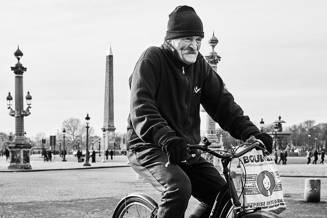 Mann auf Fahrrad