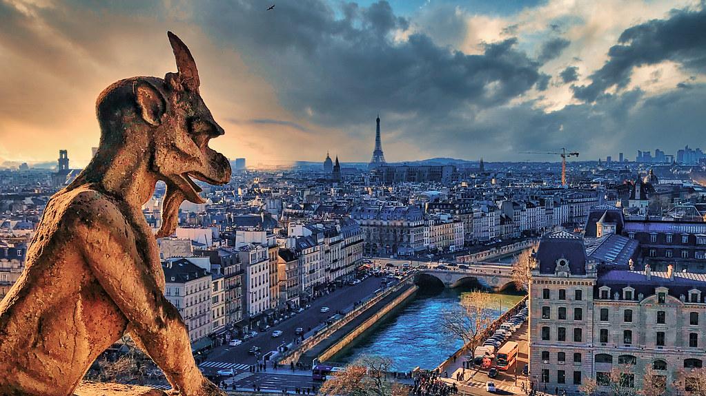 Memories of the roof of Notre Dame de Paris
