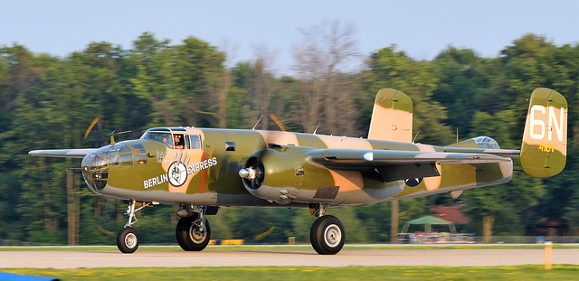 North American B-25 Mitchell bomber Called Berlin Express SN 43-4432 N10V Delivered to the USAAF in 1943