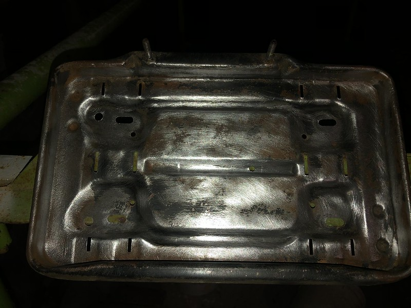 450SLC battery tray cleaned