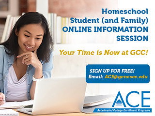 Fri, 05/15/2020 - 14:46 - A graphic containing information for GCC's Homeschool Information Sessions