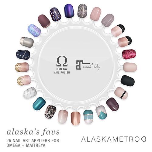 "alaskametro<3 ""Alaska's Favs"" nail art appliers for Free Dove"