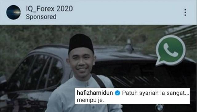 Hafiz Hamidon Bengang Fotonya Disalah Guna Oleh Scammer Iq Forex 2020