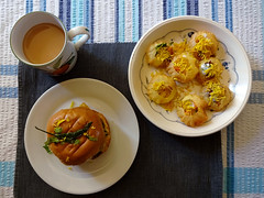 Wada pau, sev puri, and lemongrass masala chai delivered from Urban Guj, Thornton Heath, London CR7