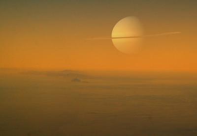 Saturn From Titan